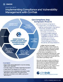 Solutions Brief Compliance Module cover