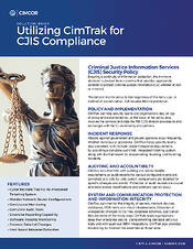 CimTrak Solution Brief CJIS Cover